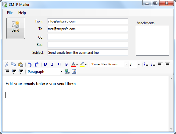 Send e mail from the command line or batch file